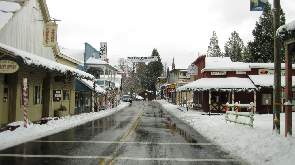 Downtown Groveland after Snow Storm