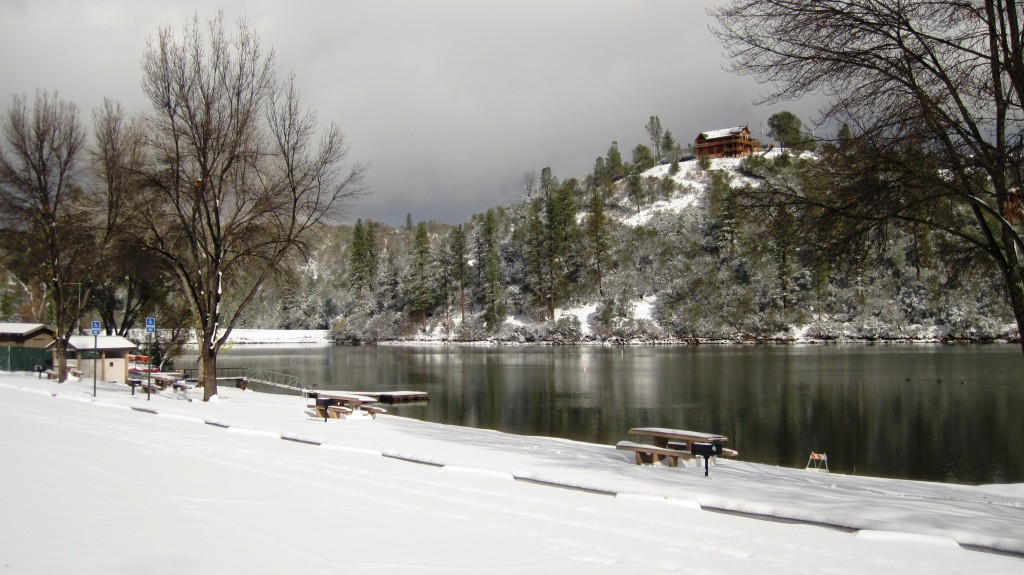Dunn Court Beach access snowed in; Pine Mountain Lake