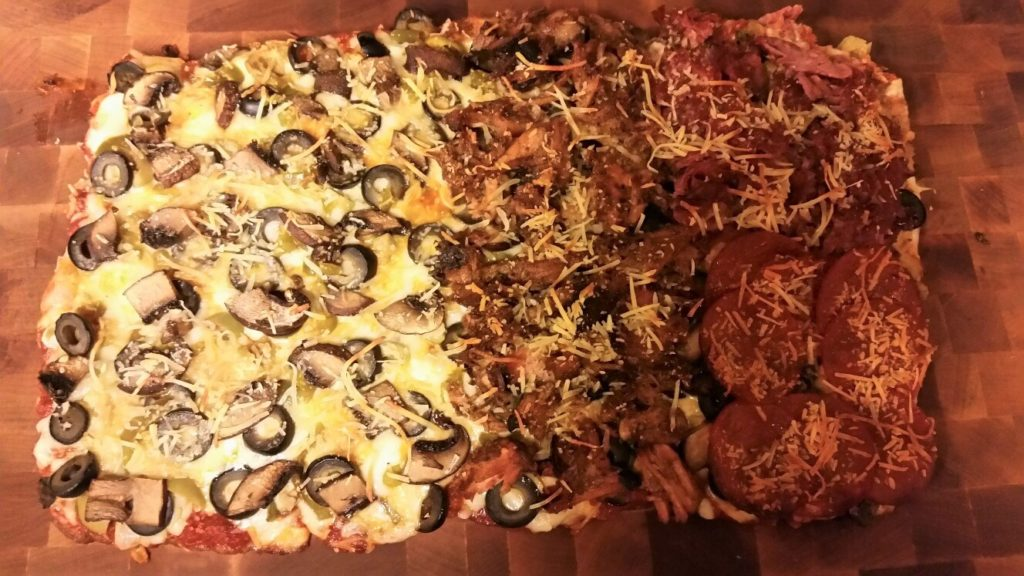 Low Carb Pizza - Finished Pizza